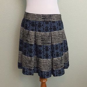 ⭐️3/$25 SALE Maison Jules Patterned Skirt Medium